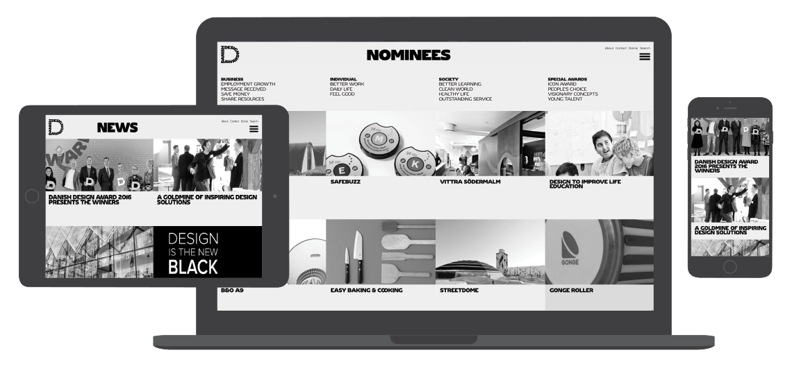 Fully responsive layout and cross-browser compatible