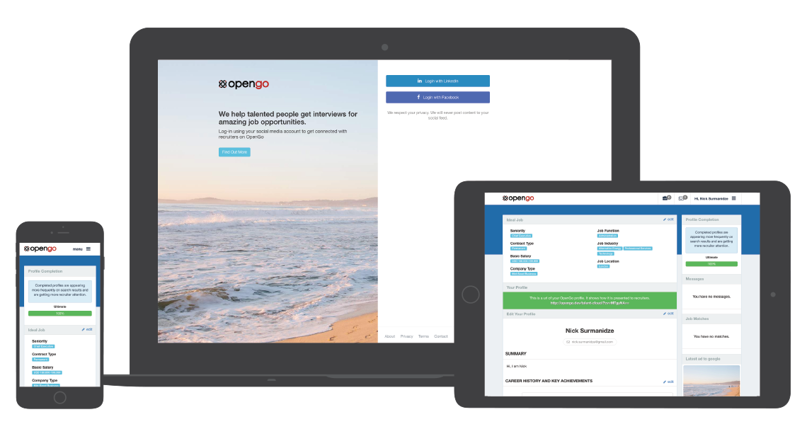 OpenGo is Fully Responsive